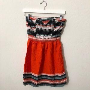 Silence & noise Orange Strapless dress